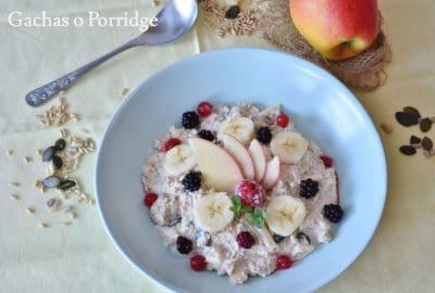 Gachas o Porridge de avena